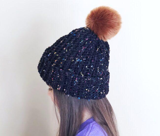【編み図】初心者でも簡単!かぎ編みでニット帽を作る!